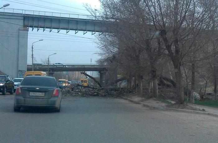 Последствия шторма в Астрахани